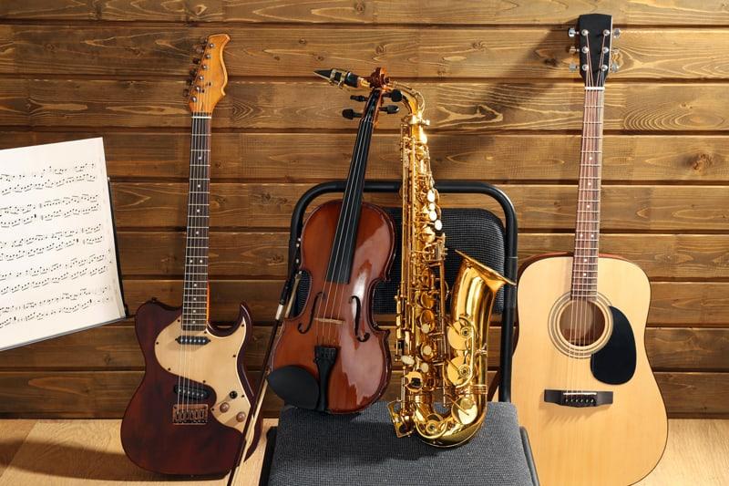 guardar instrumentos musicales