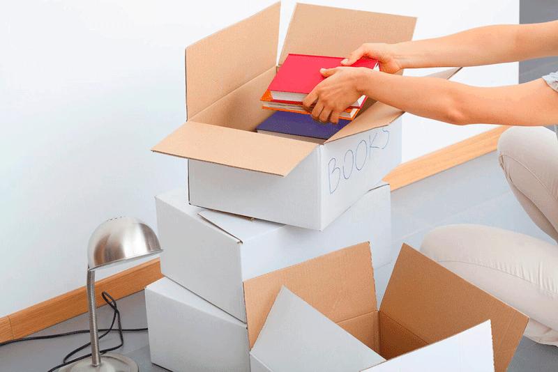 guardar libros en un trastero